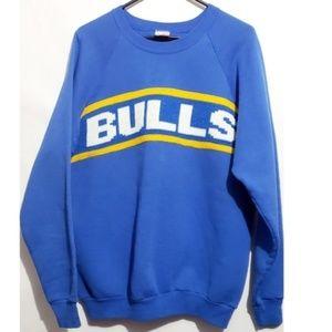 vintage bulls graphic pull on bulls sweater